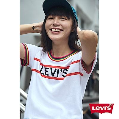 Levis T恤 女裝 字母Logo Tee 領口袖口彩色滾邊