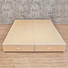 Birdie南亞塑鋼-3.5尺單人塑鋼後二抽屜床底(不含床頭箱)(白橡色)