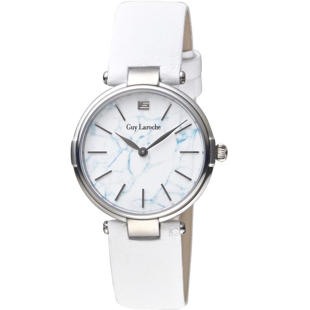 姬龍雪Guy Laroche Timepieces大理石紋理時尚錶(LW1025B-01)