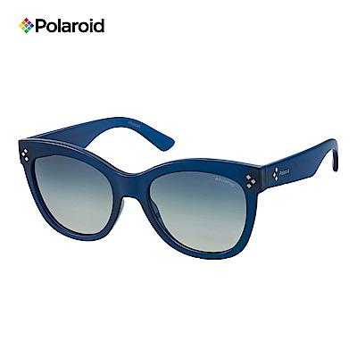 Polaroid PLD 4040/S-柔美眉框太陽眼鏡 藍色