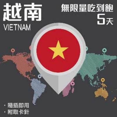【PEKO】加送卡套 越南上網卡 5日高速4G上網 無限量吃到飽 優良品質