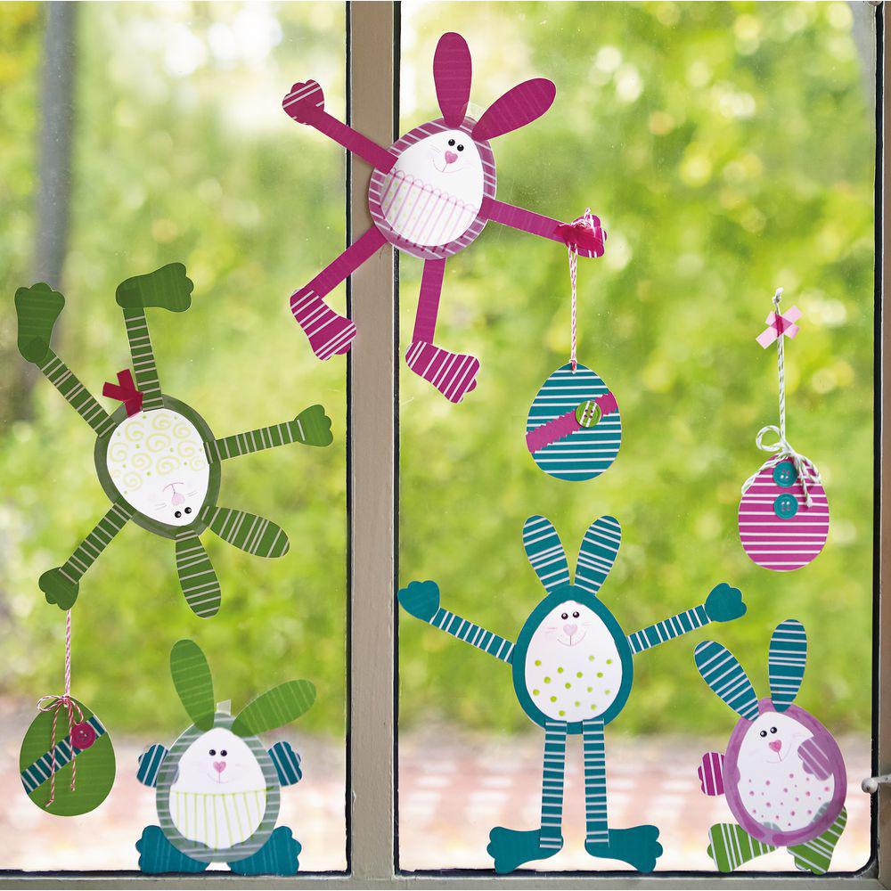 JAKO-O 德國野酷 創意手作窗貼組–迷你兔子與彩蛋(12組入)