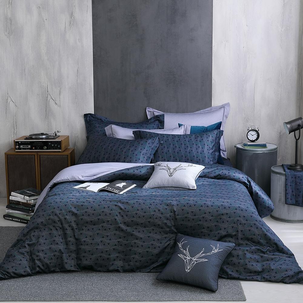OLIVIA  Solomon 標準雙人床包冬夏兩用被套四件組 400織高織紗匹馬棉