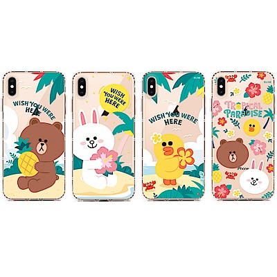 GARMMA LINE FRIENDS iPhone X/XS 保護軟殼