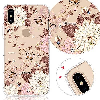 YOURS APPLE iPhone XS Max 奧地利彩鑽防摔手機殼-羽蝶