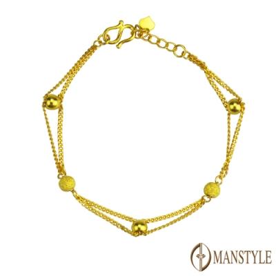 MANSTYLE 穿越永恆 黃金手鍊 (約1.91錢)