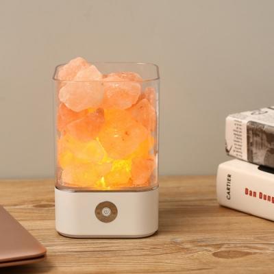 水晶鹽石負離子氣氛夜燈-圓形