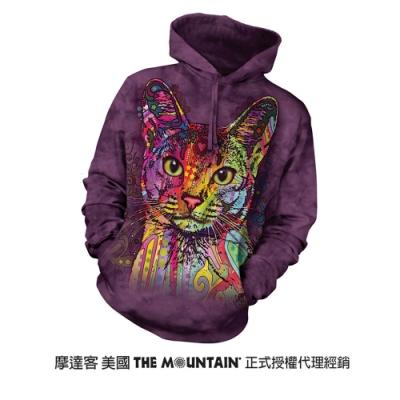 摩達客 美國進口The Mountain 彩繪貓   長袖連帽T恤