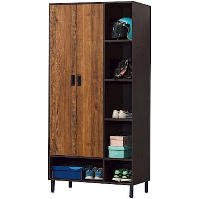綠活居 蘭迪時尚3尺二門高鞋櫃/玄關櫃-90x39x182cm免組