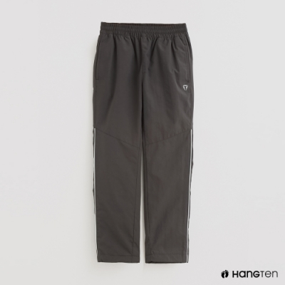 Hang Ten - 童裝 -ThermoContro-簡約刷毛腰部鬆緊機能長褲-灰