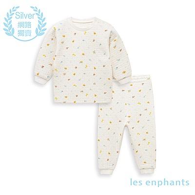 les enphants 空氣層系列半高領套裝(白色)