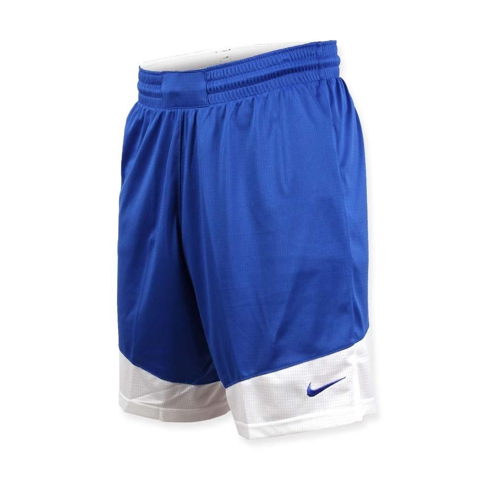 NIKE 男籃球針織短褲-路跑 慢跑 訓練 五分褲 藍白
