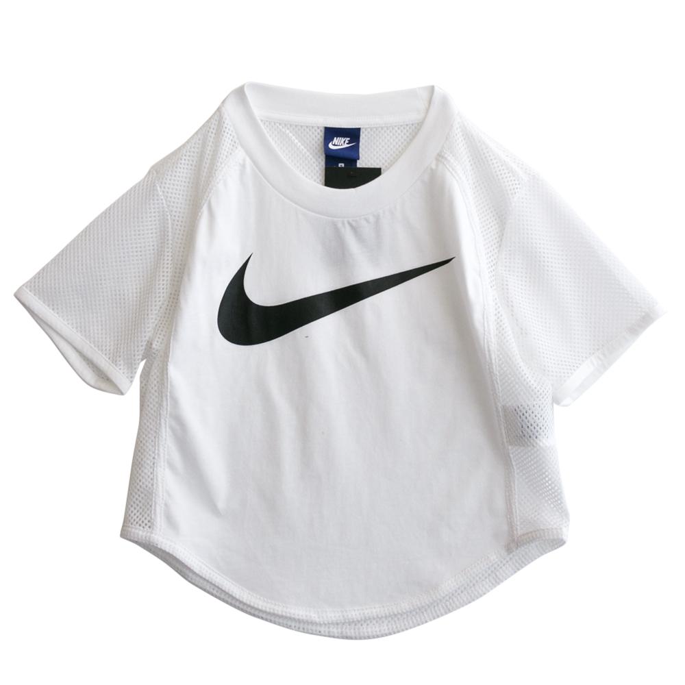 Nike TOP CROP SWSH-短袖上衣-女