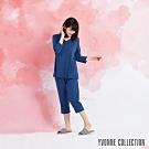 YVONNE 膠原美膚七分褲-藍M