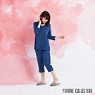 YVONNE 膠原美膚七分褲-藍L