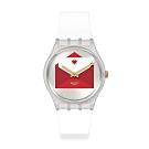 Swatch 情人節特別款手錶 YOU'VE GOT LOVE 愛的告白-34mm
