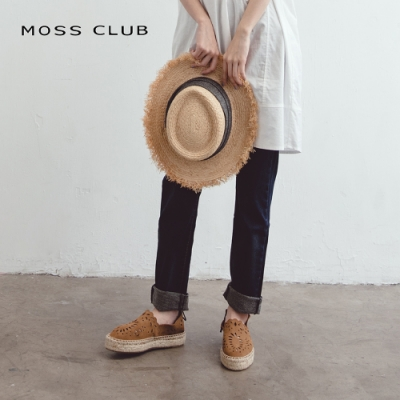 【MOSS CLUB】棉質合身舒適-長褲(藍色)
