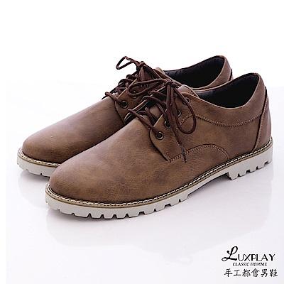 LUXPLAY  男款 低調時尚風格 休閒鞋WK241咖