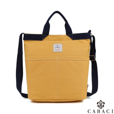 CABACI 簡約潮流手提斜背帆布包-共3色