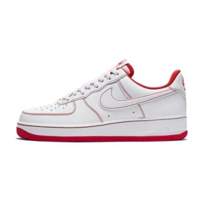 Nike AIR FORCE 1 07 男休閒鞋-白紅-CV1724100