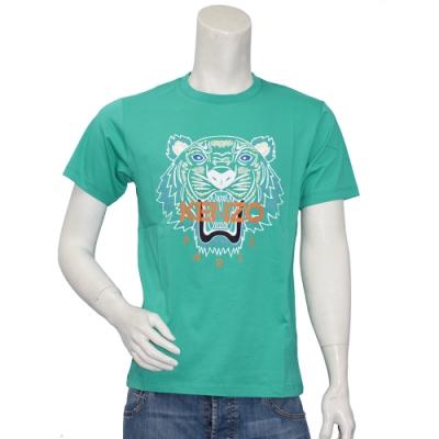 KENZO 老虎標誌印花圓領衫(綠)