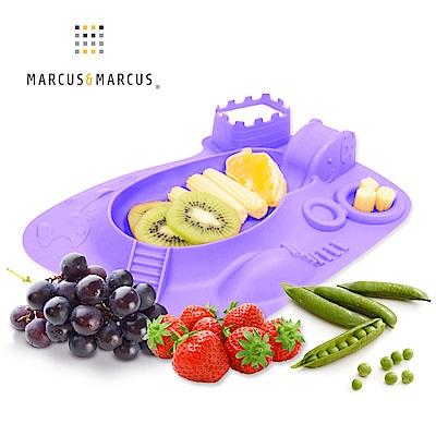 【MARCUS&MARCUS】動物樂園遊樂造型餐盤-鯨魚(紫)