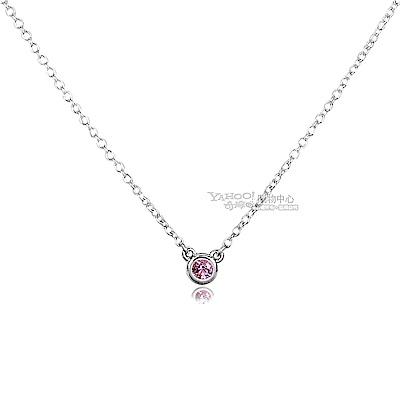 TIFFANY&Co. Elsa Peretti  0.08克拉圓形粉紅寶石純銀項鍊