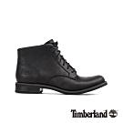 Timberland 女款黑色全粒面革綁帶根靴|A1ZBQ