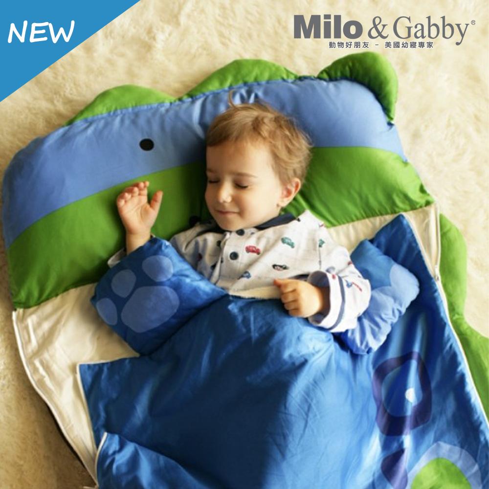Milo&Gabby 動物好朋友-三合一超柔軟四季睡袋 (DYLAN恐龍)