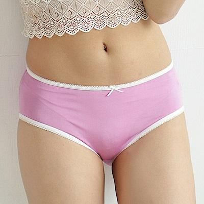內褲 清新甜美100%蠶絲中高腰三角內褲 (紫) Chlansilk 闕蘭絹