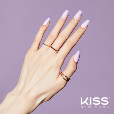KISS New York-華沙款Press&Go頂級光療指甲貼片(微醺夜晚 KPNC04K)
