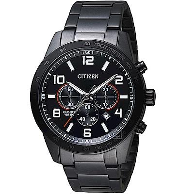 CITIZEN星辰百搭時尚計時限量腕錶(AN8165-59E)-黑