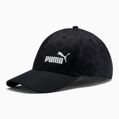 PUMA-男女基本系列AOP棒球帽-黑色