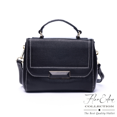 Flor Eden - 韓版氣質輕奢女款真皮手提斜背包-共2色