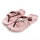 PLAYBOY隨性派對 手繪圖樣夾腳拖鞋-粉