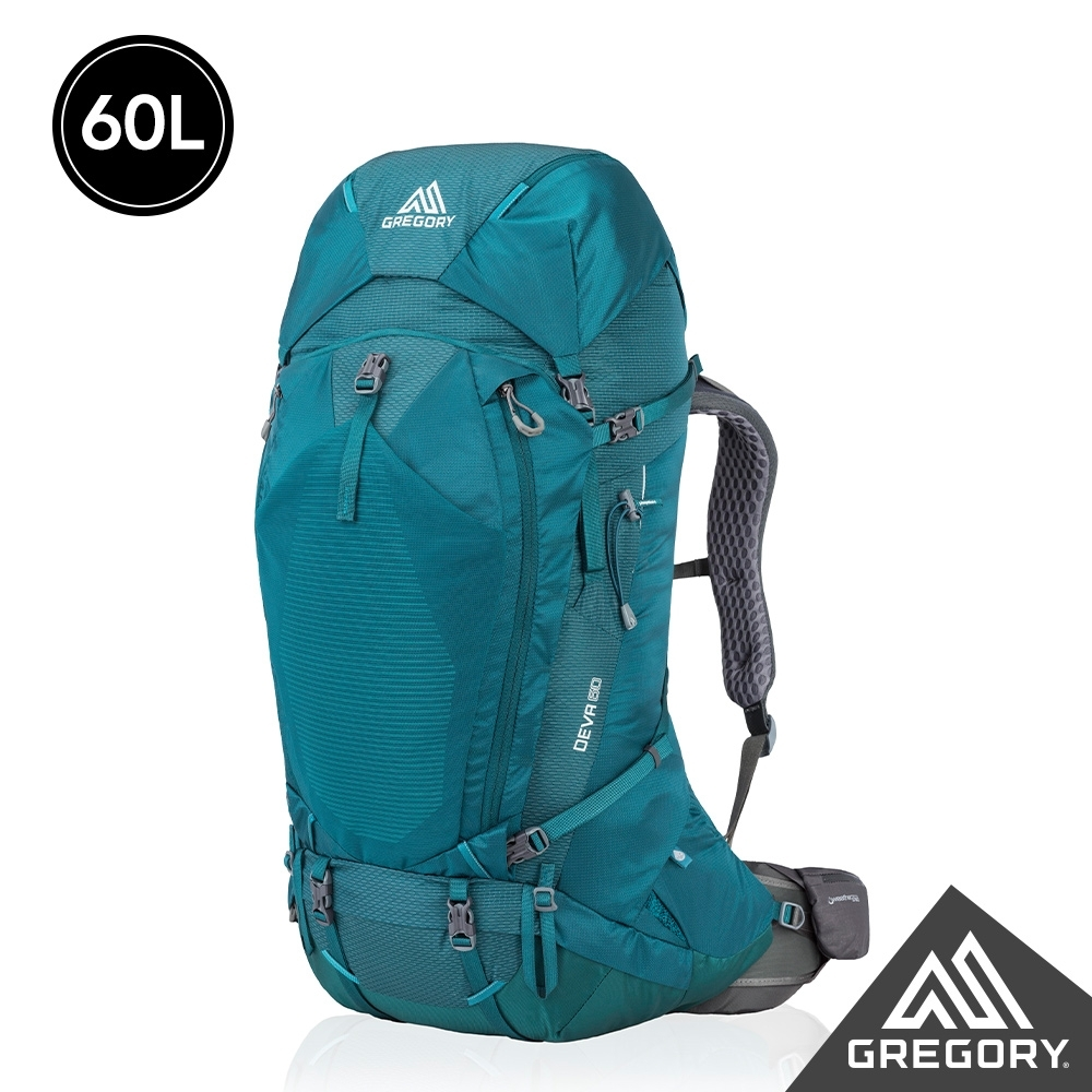 Gregory 女 60L DEVA登山背包 安地卡綠 S