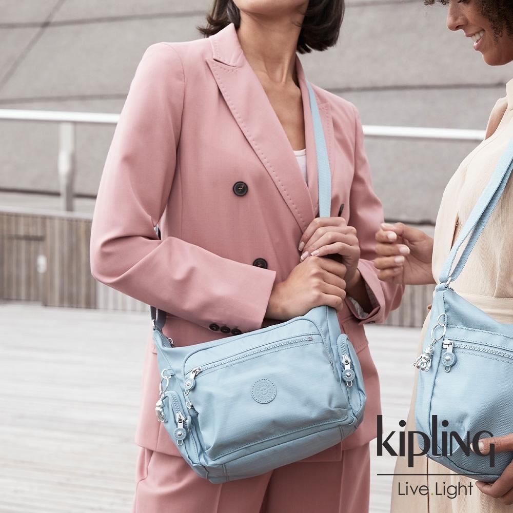 Kipling 寧靜海洋藍多袋實用側背包-GABBIE S