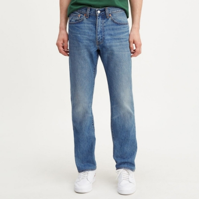 Levis X 怪奇物語限量聯名 男款505修身直筒牛仔褲 顛倒皮牌 刷白