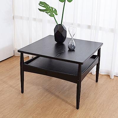 Boden-艾泰爾2.2尺黑色小茶几-67x67x46cm