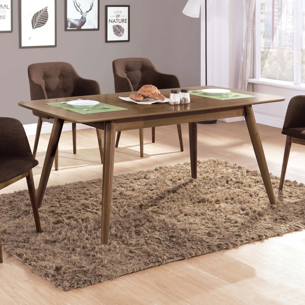 Boden-爾文5.3尺北歐風拉合/伸縮功能餐桌拉合餐桌(胡桃色)-160x80x75cm