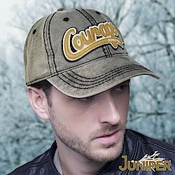 JUNIPER 全棉水洗復古品牌貼布繡遮陽鴨舌球帽
