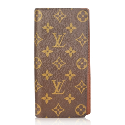 Louis Vuitton (LV) M66540 Monogram 經典花紋開闔拉鍊長夾