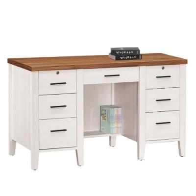 MUNA 詩肯雙色4.2尺書桌(下座) 126.5X58X77cm