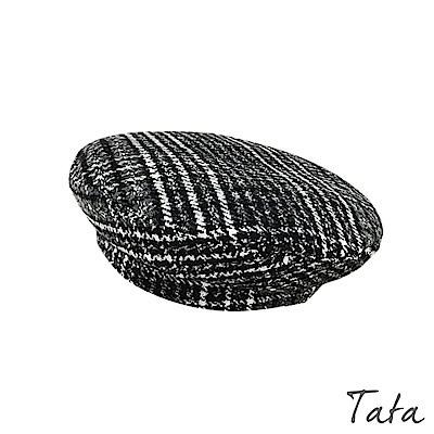 格紋毛呢貝蕾帽 共二色 TATA
