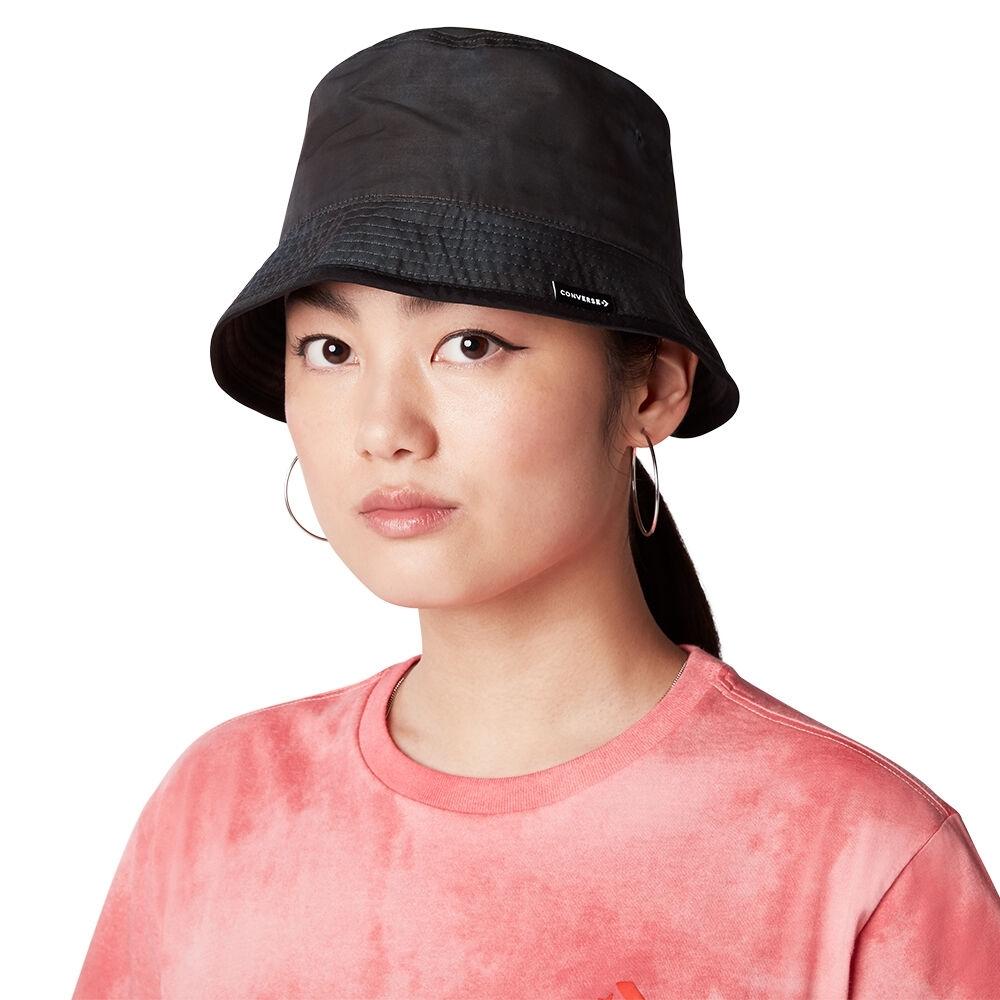 CONVERSE WASHED BUCKET HAT 男女 休閒帽 渲染 漁夫帽 黑色 10021435-A01