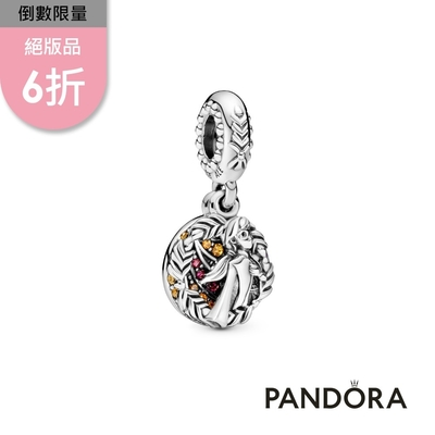 【Pandora官方直營】迪士尼《冰雪奇緣》安娜暖紅寶石吊飾
