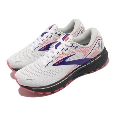 Brooks 慢跑鞋 Ghost 14 運動休閒 女鞋 路跑 避震 合腳 穩定 彈力 灰 粉 1203561B192
