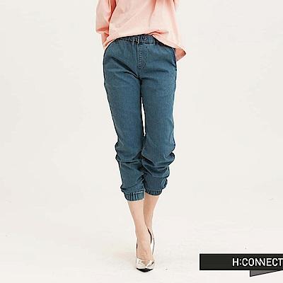 H:CONNECT 韓國品牌 女裝 - SHARKEE彈性束口牛仔褲-藍(快)