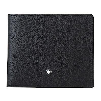 萬寶龍MONTBLANC 大班系列8卡牛皮荔枝紋對折短夾(黑)