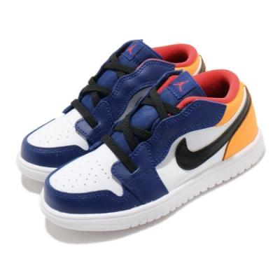 Nike 休閒鞋 Jordan 1 Low Alt 童鞋 基本款 簡約 魔鬼氈 喬丹 小童 白 藍 CI3436123